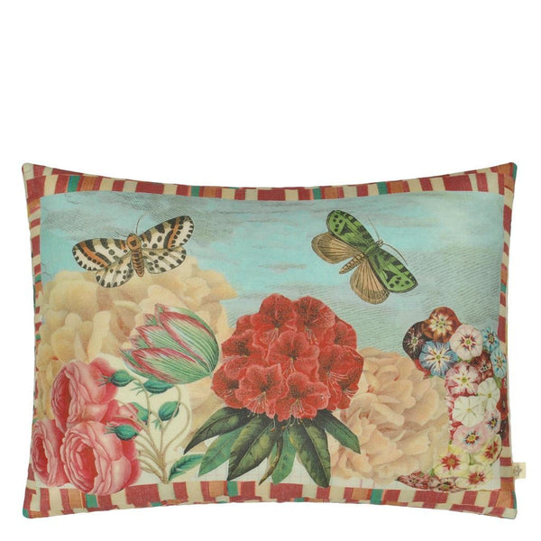 John Derian Garden Fantasy Fuchsia Decorative Pillow at Fig Linens