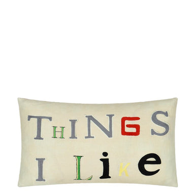 Things I Like Parchment Pillow | John Derian by Designers Guild