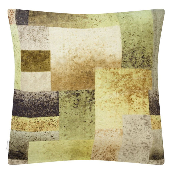 Designers Guild Parterre Geo Turmeric Decorative Pillow - Reverse