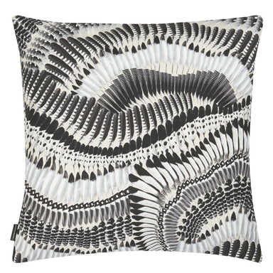 Prete-moi ta Plume! Magenta Decorative Pillow | Christian Lacroix Reverse