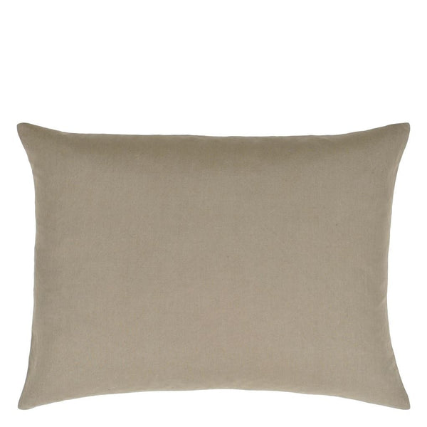 Designers Guild Hollyhock Ochre Solid Reverse | Pillows at Fig Linens