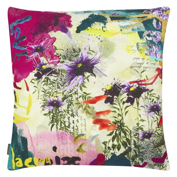 Reverse of Christian Lacroix L'herbier Ruisseau Pillow