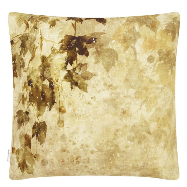 Designers Guild Jardin Chinois Hemp Decorative Pillow Reverse