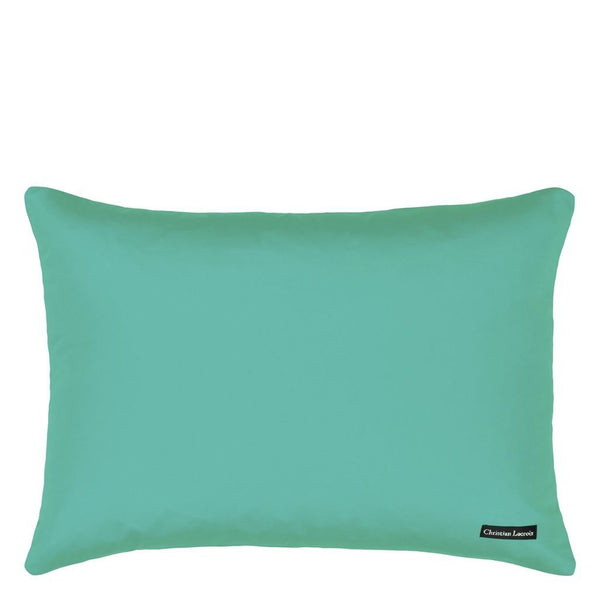 Oiseau Fleur Bourgeon Pillow | Solid Teal Reverse