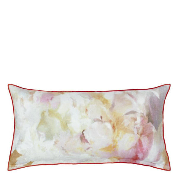 Tulip Garden Azalea Decorative Pillow | Designers Guild Pillow - Reverse