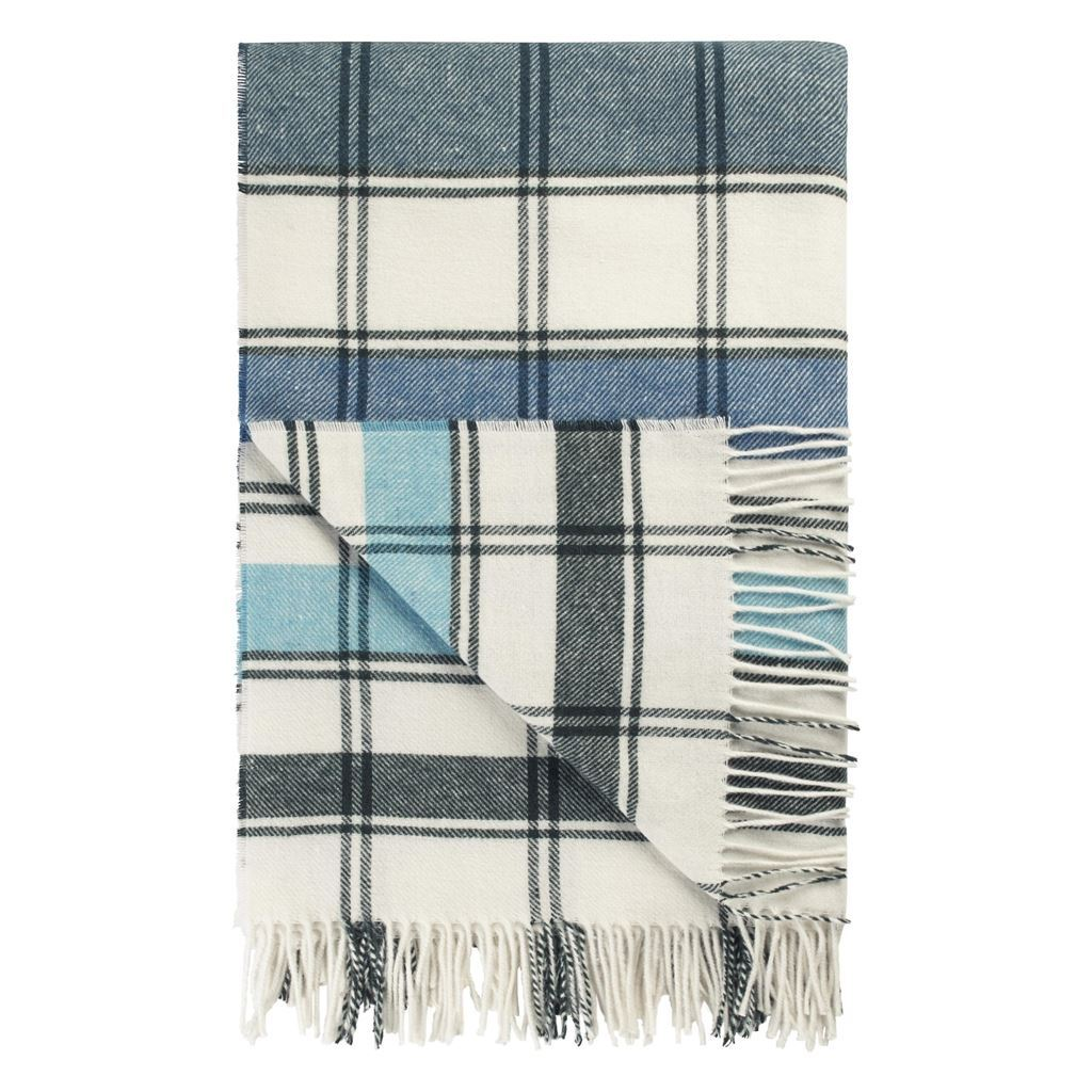 Designers Guild Bayswater Teal Throw