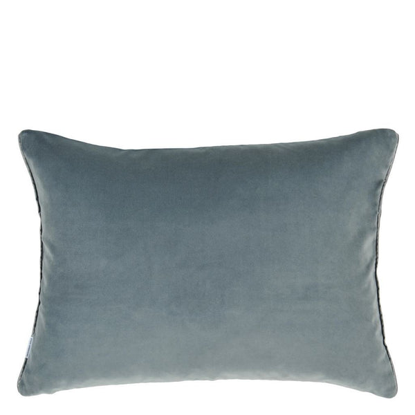 Designers Guild Cassia Prussian & Granite Decorative Pillow | Reversible