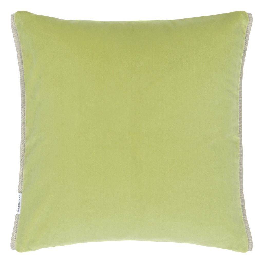 Designers Guild Varese Apple & Leaf Decorative Pillow Reverse to green
