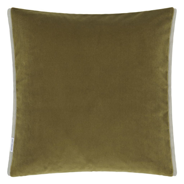 Designers Guild Varese Saffron & Olive Decorative Pillow at Fig Linens