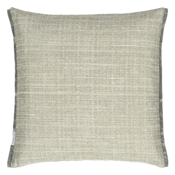 Designers Guild Manipur Jade Decorative Pillow Reverse to Solid