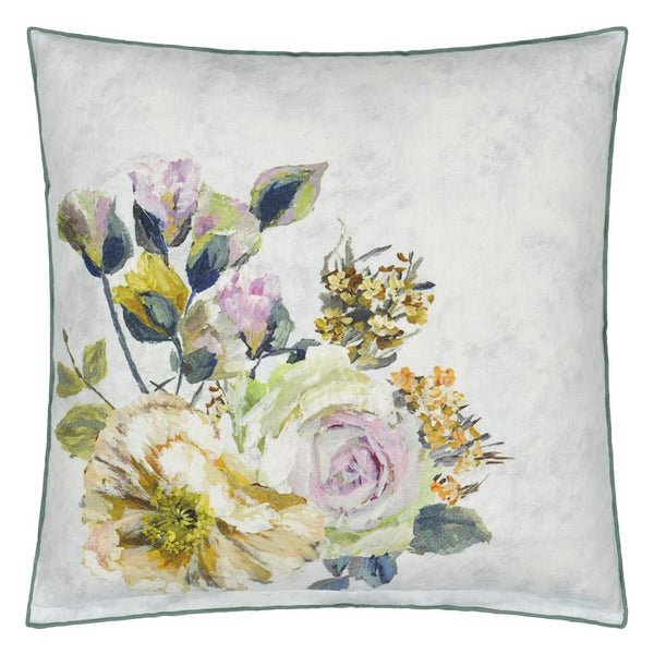 Designers Guild Grandiflora Rose Dusk Decorative Pillow | Reverse