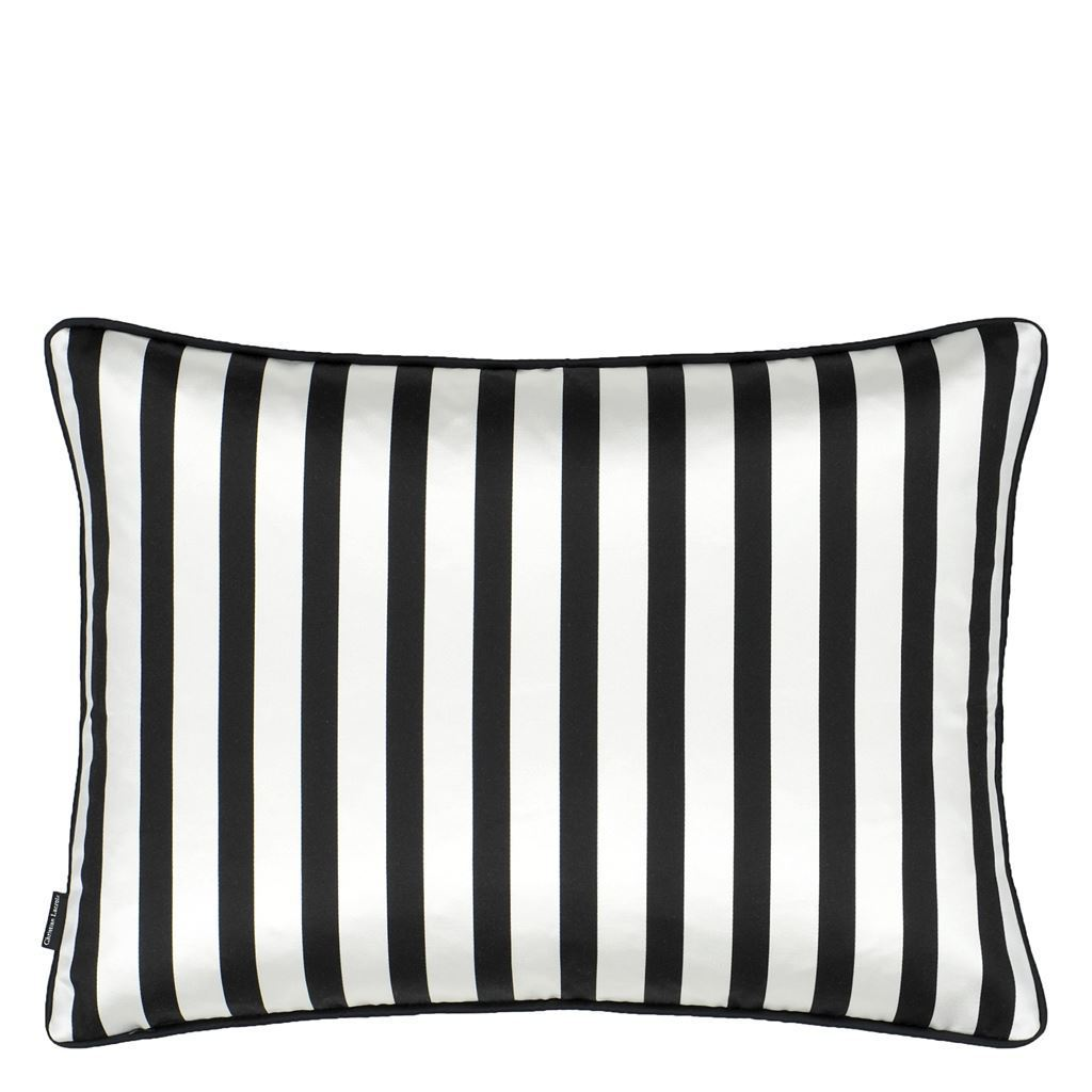 Soft L'Aveu Ruisseau Reverse to Stripe Pillow