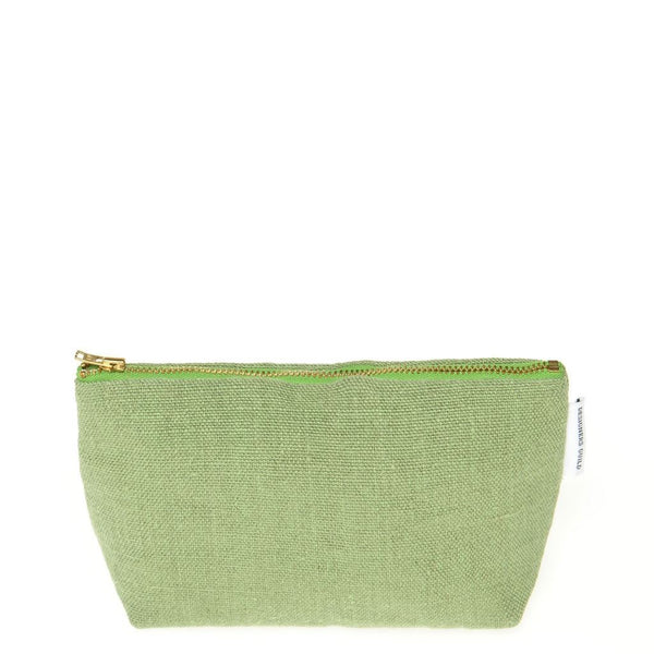 Designers Guild Brera Lino Olive Small Toiletry Bag