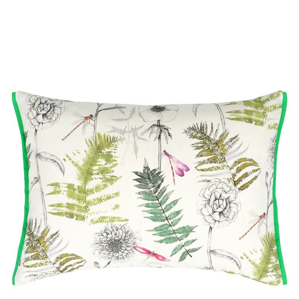 Designers Guild Outdoor Acanthus Moss Decorative Pillow