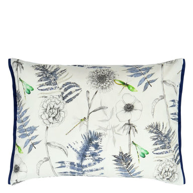 Outdoor Acanthus Indigo Decorative Pillow by Designers Guild