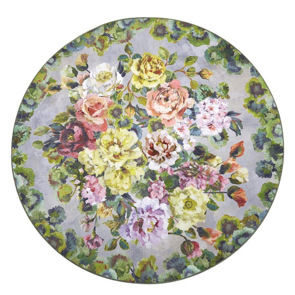Grandiflora Rose Epice Round Rug by Designers Guild