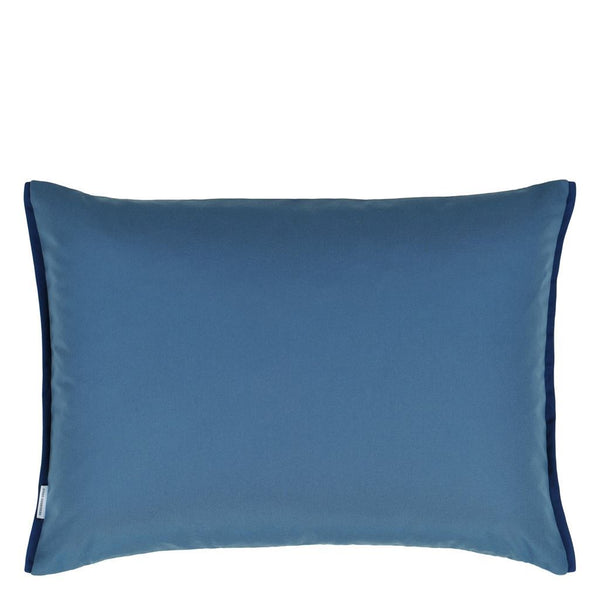 Acanthus Indigo Cushion - Designers Guild Outdoor Pillow Reverse