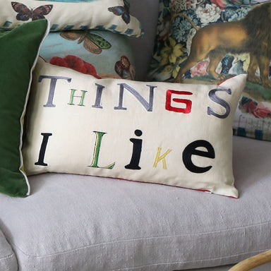 Things I Like Parchment Pillow | John Derian at Fig Linens and Home