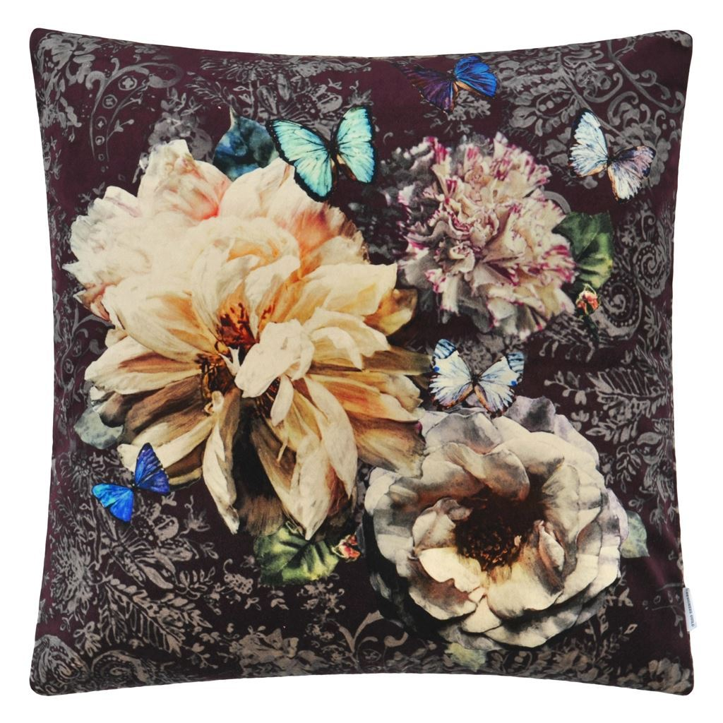 Fig Linens - Designers Guild Pahari Rosewood Cushion