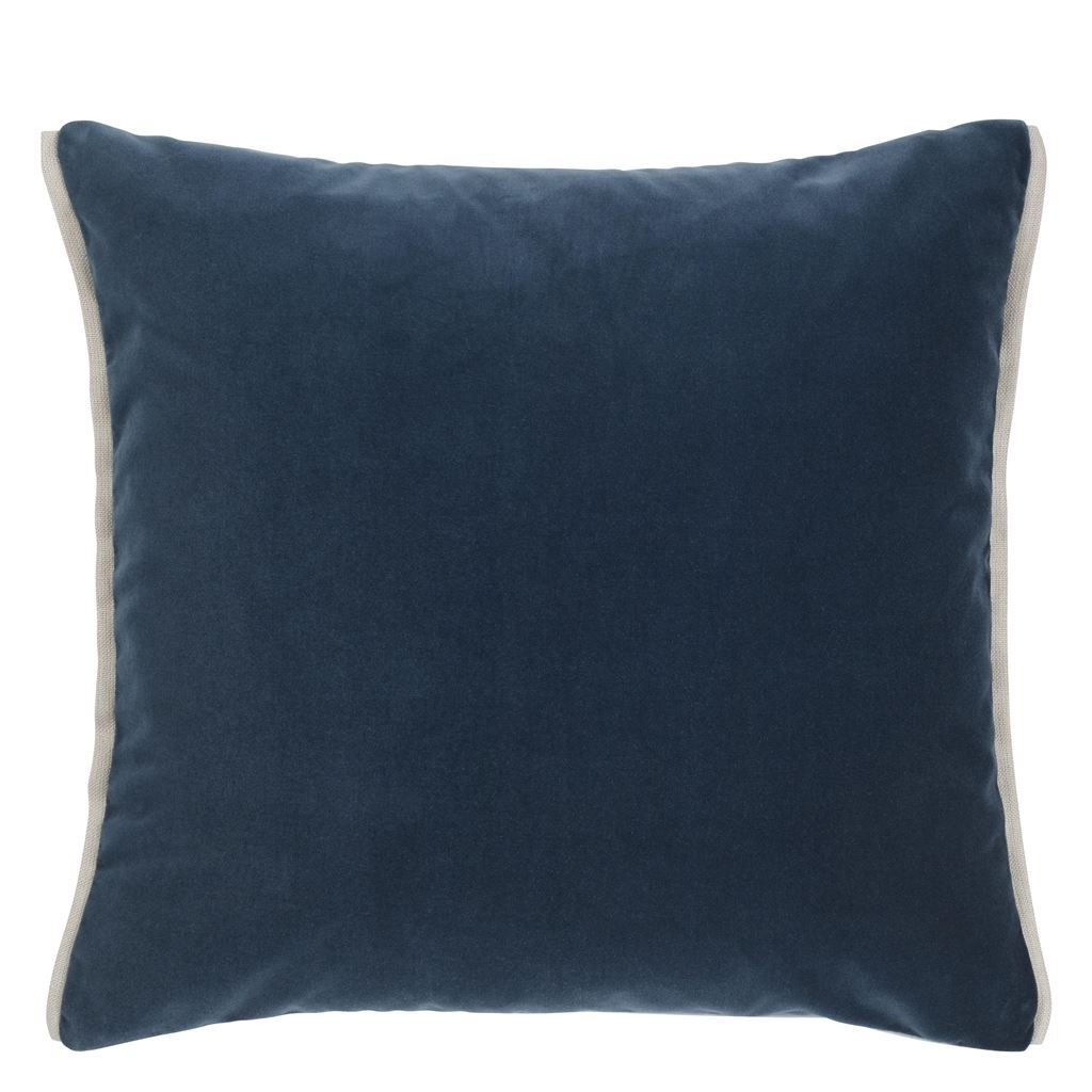 Varese Prussian & Smoke Cushion by Designers Guild - Fig Linens