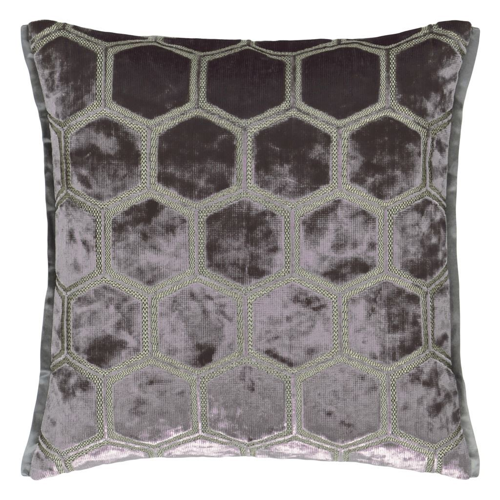 Fig Linens - Designers Guild - Manipur Espresso Cushion