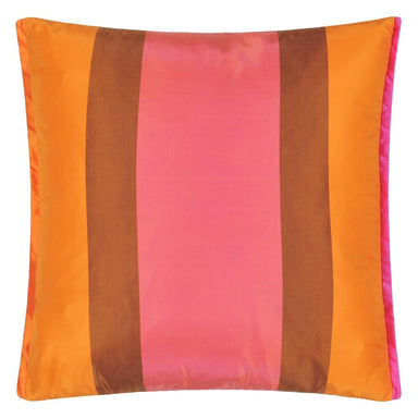 Fig Linens - Designers Guild Varanasi Fuchsia Decorative Pillow - Back