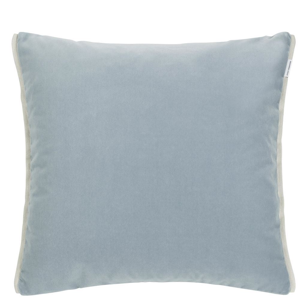 Fig Linens - Designers Guild - Varese Prussian & Smoke Decorative Pillow - Back