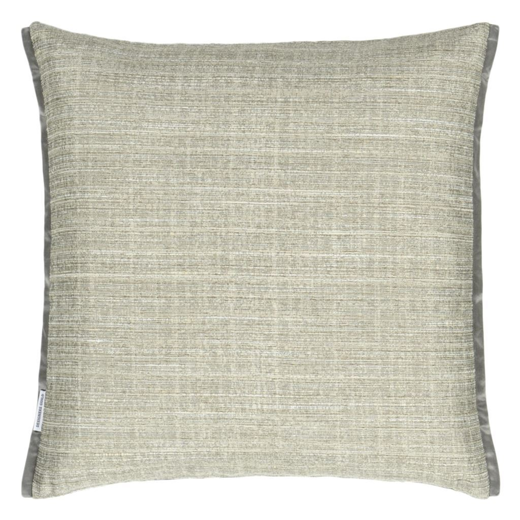 Fig Linens - Designers Guild - Manipur Espresso Pillow - Back