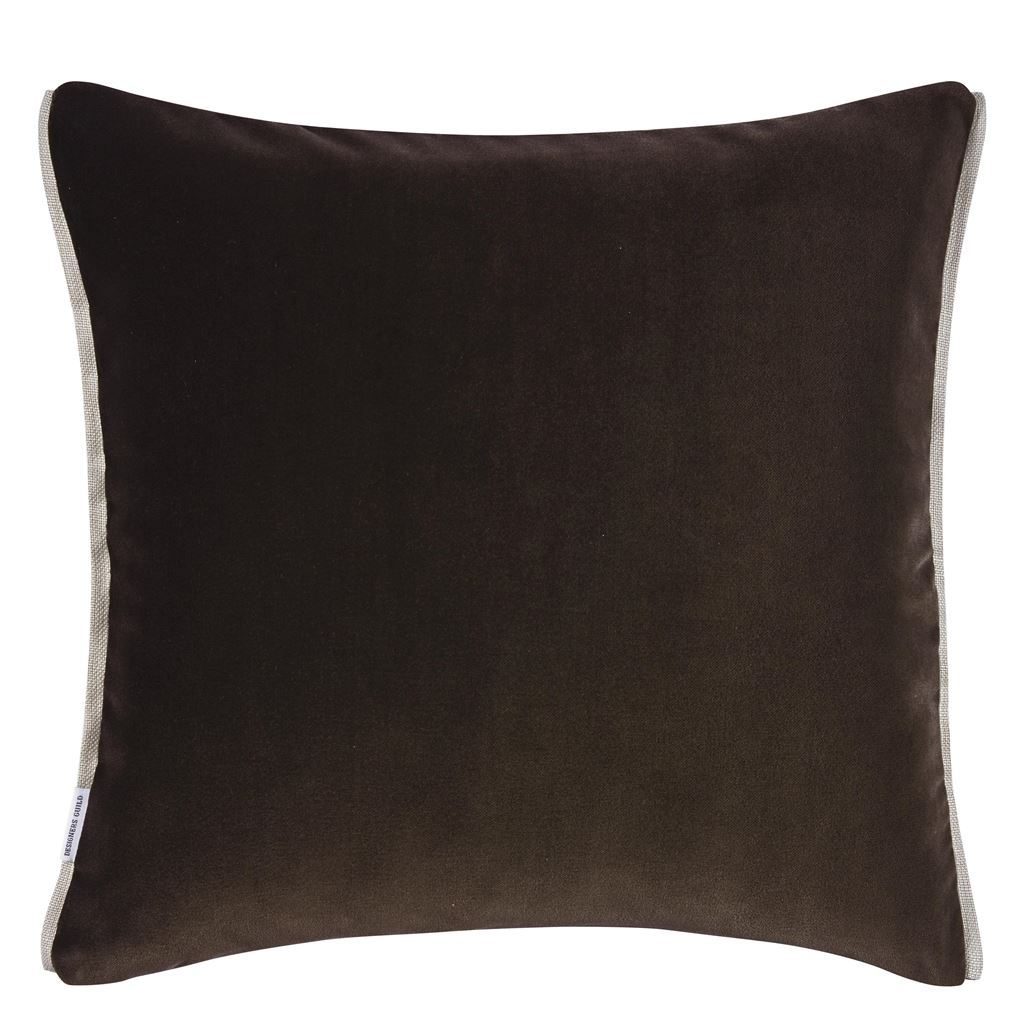 Fig Linens -Varese Linen & Cocoa Cushion by Designers Guild - back