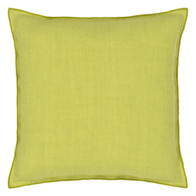 Fig Linens - Designers Guild - Brera Lino Forest & Alchemilla Decorative Pillow - Back