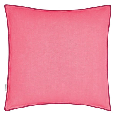 Fig Linens - Brera Lino Rosewood & Azalea Decorative Pillow - Back