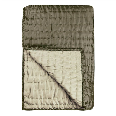Chenevard Espresso & Birch Silk Quilt | Designers Guild at Fig Linens
