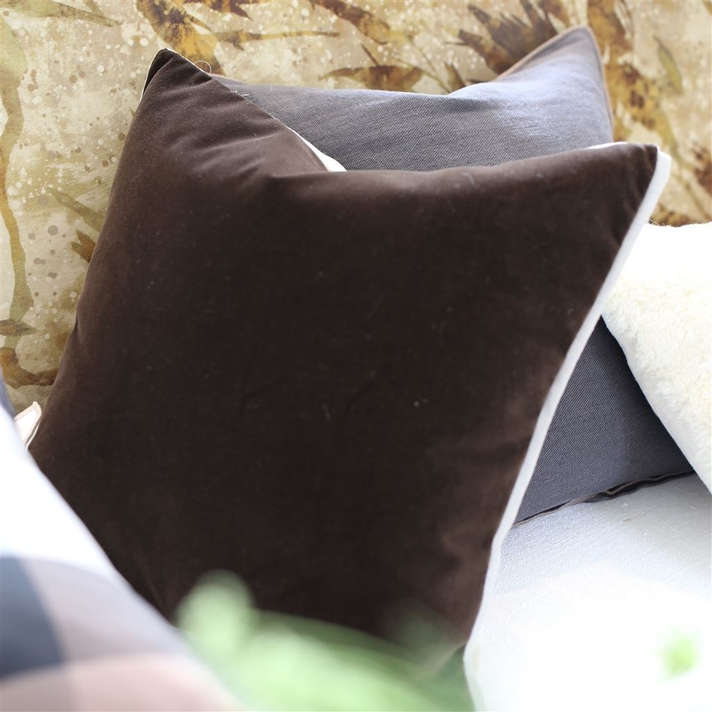 Designers Guild Varese Linen & Cocoa Decorative Pillow | Fig Linens and Home