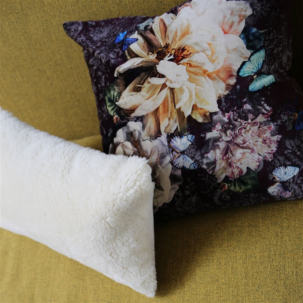 Fig Linens - Designers Guild Pahari Rosewood Decorative Pillow