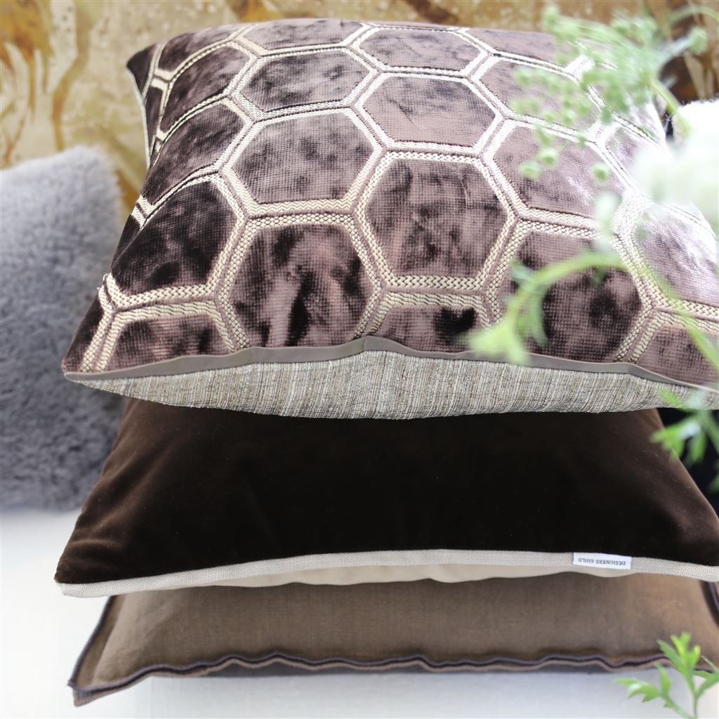 Fig Linens - Designers Guild - Espresso Decorative Pillows