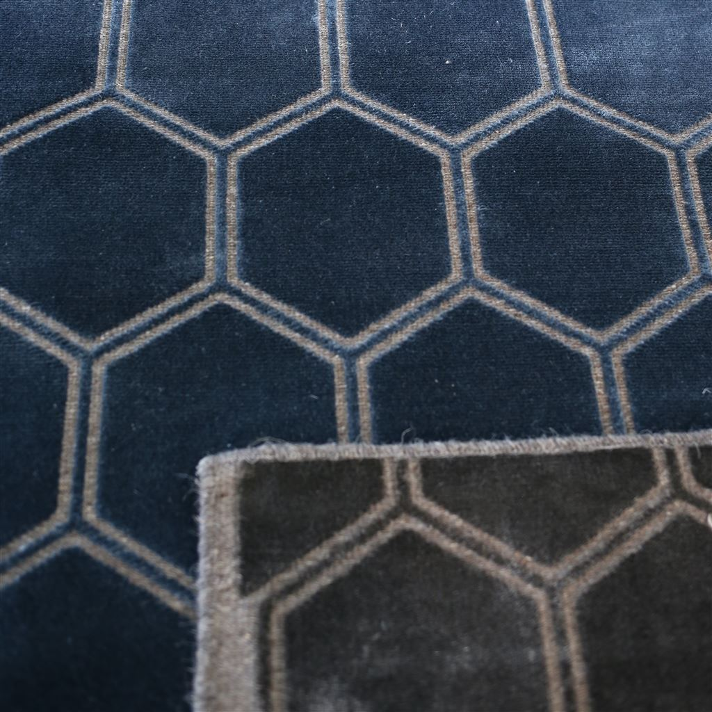 Detail of Manipur Delft Floor Rug by Designers Guild