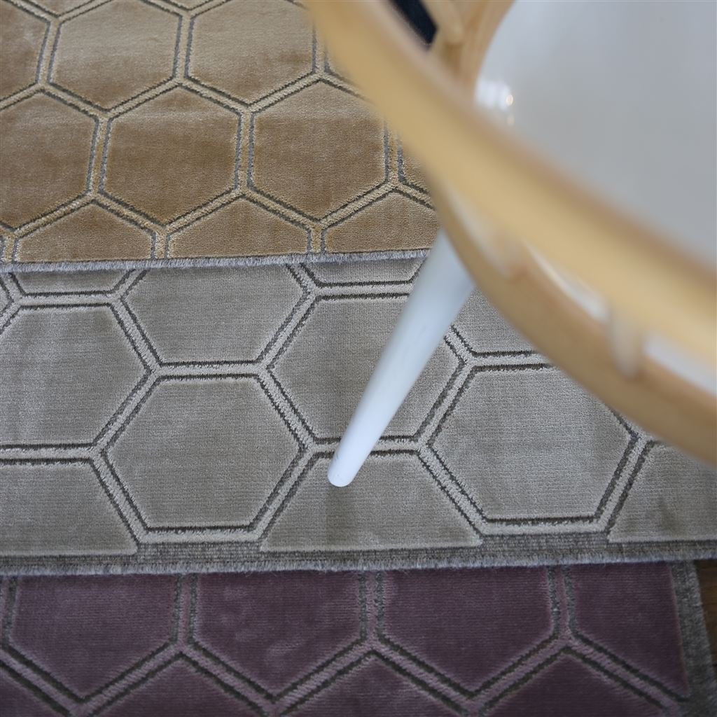 Manipur Hemp Rug shown under table with Contemporary detail | Fig Linens