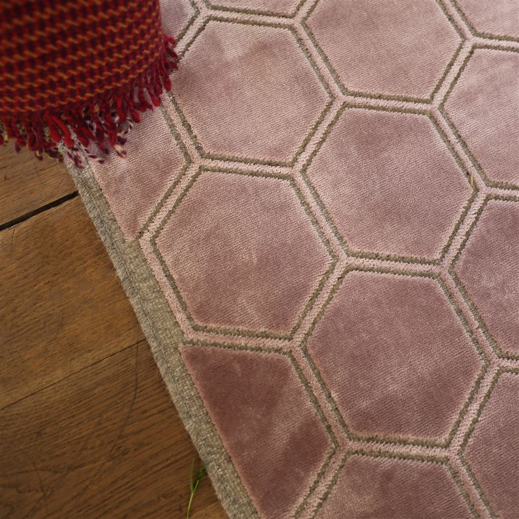 Overview of Manipur Amethyst Floor Rug | Designers Guild at Fig Linens and Home