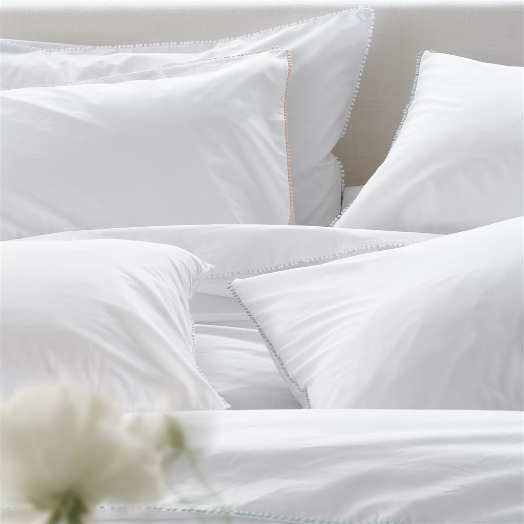 Ludlow Pale Gray Sheets & Shams Detail | Designers Guild