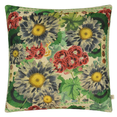 Blue Daisies Sepia Decorative Pillow