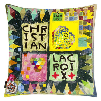 Arlecchino Wood Multicolore Decorative Pillow 1 | Christian Lacroix