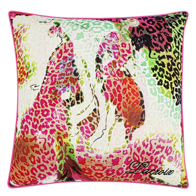 Les Felines Magenta Decorative Pillow