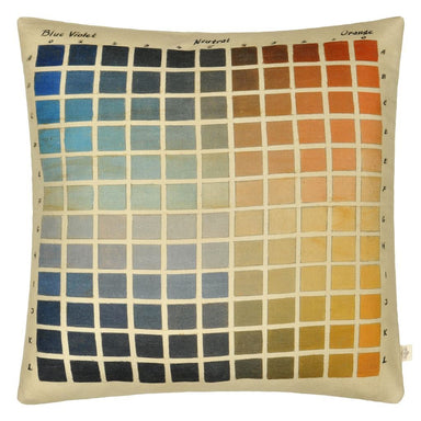 Paint Charts Azure Decorative Pillow