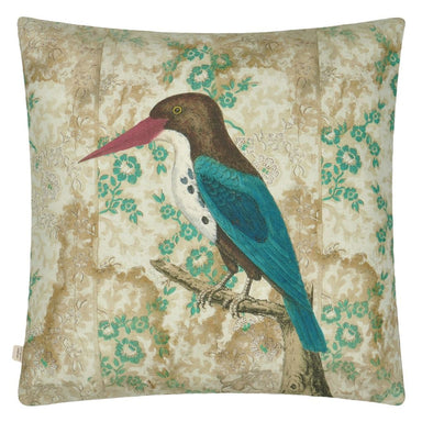 Wallpaper Birds Sepia Decorative Pillow