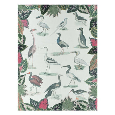John Derian Birds of a Feather Parchment Throw 2