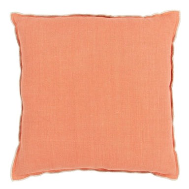 Designers Guild Brera Lino Coral & Putty Decorative Pillow