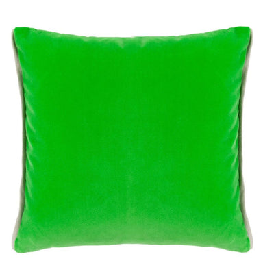 Designers Guild Throw Pillow | Varese Malachite & Navy Decorative Pillow - Reverse