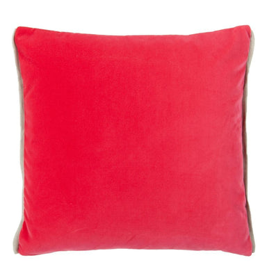 Designers Guild Varese Bright Fuchsia & Saffron Decorative Pillow - Front Pink