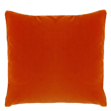 Designers Guild Varese Bright Fuchsia & Saffron Decorative Pillow - Reverse Orange