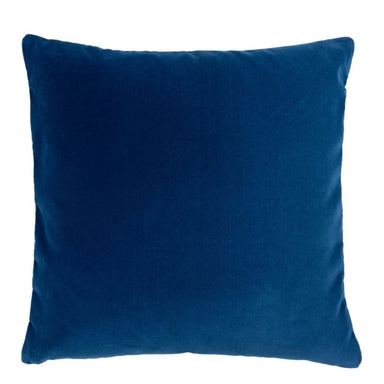 Designers Guild Throw Pillow | Varese Malachite & Navy Decorative Pillow - Front